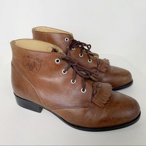 Ariat ATS Roper Competition Roper Lace up Booties